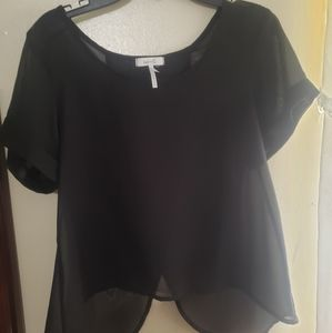 Black see threw blouse.